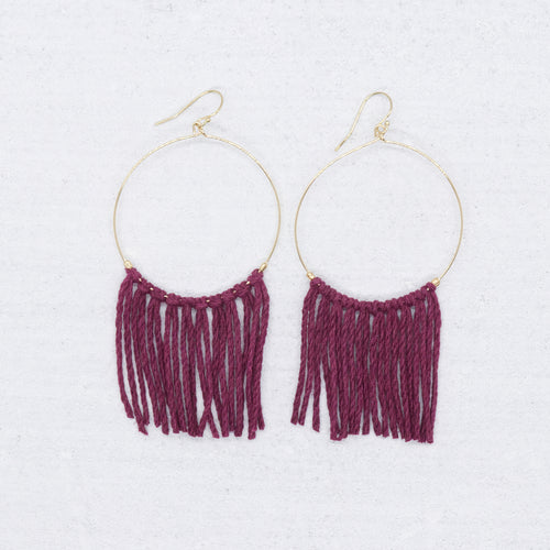 Hope Earrings - Wine