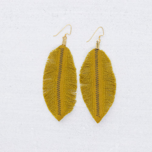 Refuge Earrings - Mustard