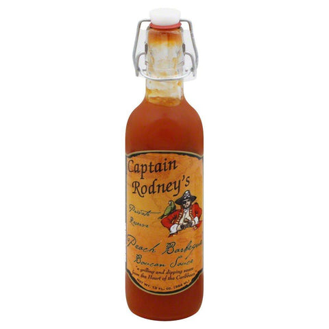 Captain Rodneys Private Reserve Peach BBQ sauce 385ml - The Barbecue Company