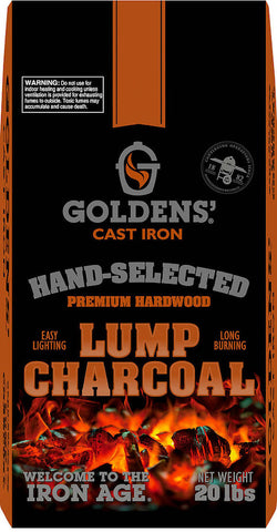 Goldens Cast Iron Premium Lump Charcoal 9kg - The Barbecue Company