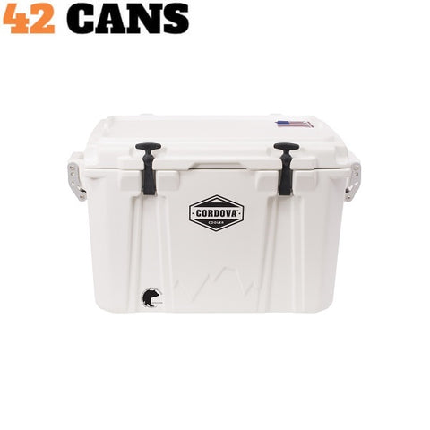 Cordova Cooler Medium 50 White - The Barbecue Company
