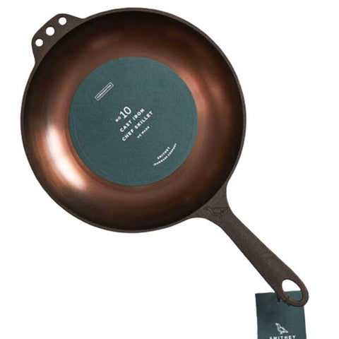 Smithey Ironware No. 10 Cast Iron Chef Skillet (25cm) - The Barbecue Company