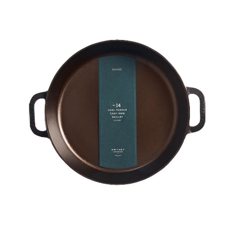 Smithey Ironware No. 14 Dual Handle Cast Iron Skillet (35cm)