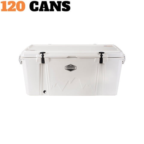 Cordova Excursion (128Q) White Cooler - The Barbecue Company