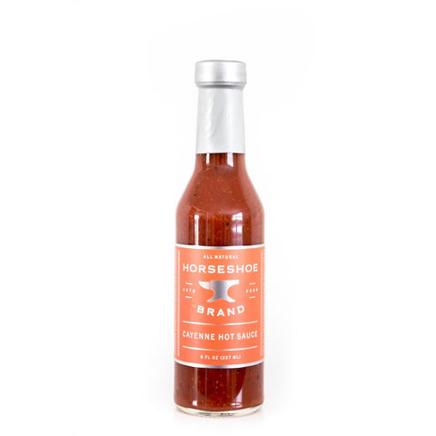 Horseshoe Brand Cayenne Hot Sauce 237ml - The Barbecue Company