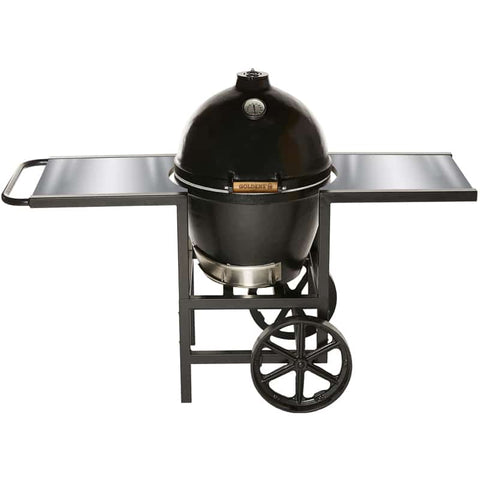 Goldens Cast Iron Cooker with Cart & Stainless Steel Side Tables (20.5in)