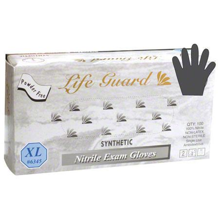 Life Guard Nitrile Powder Free Gloves X-Large 100pk - The Barbecue Company