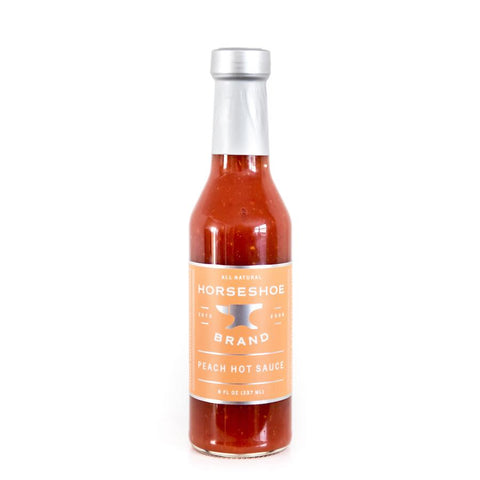 Horseshoe Brand Peach Hot Sauce 237ml - The Barbecue Company