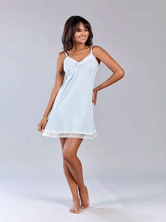 Cotton Short Night Dress