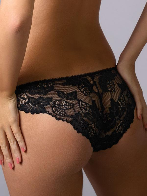 Panty with Floral Lace Back