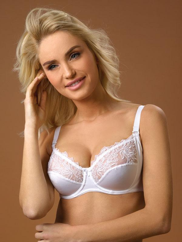 Half Cup Bra with Embroidery