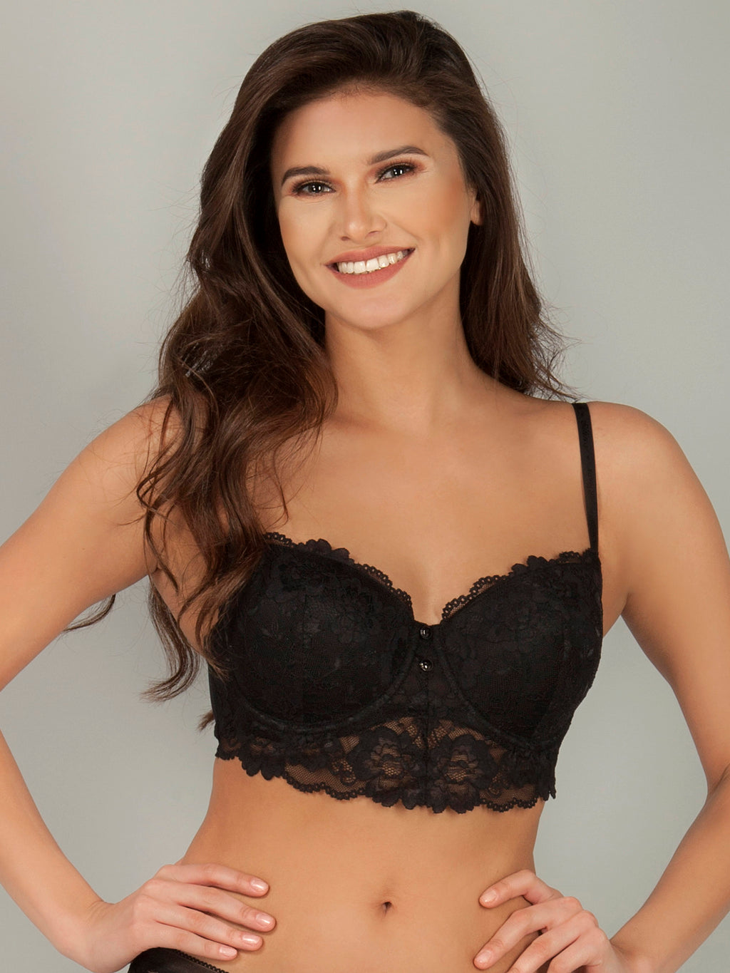 Soft Pad Bra with Extended Front Lace