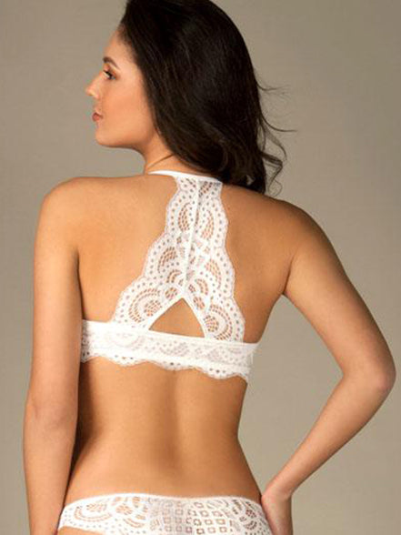 Push Up Bra with Back Lace Design