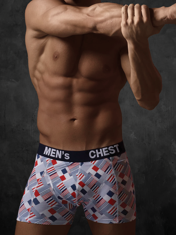 Colored Print Boxer