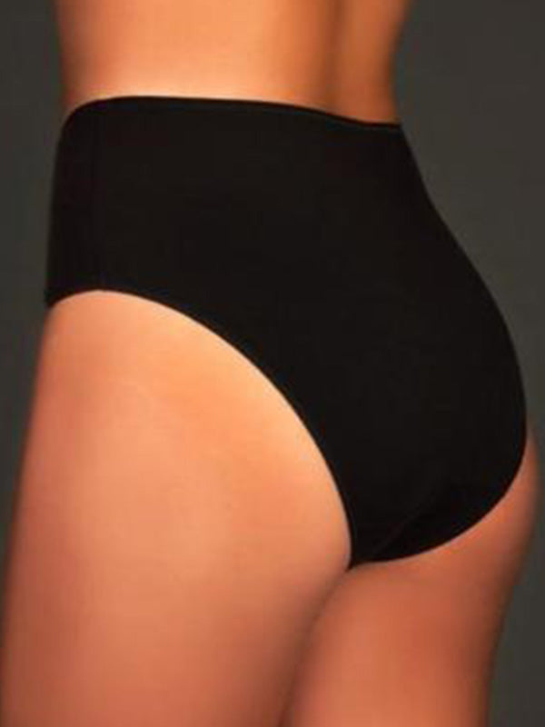 Cotton high waist brief
