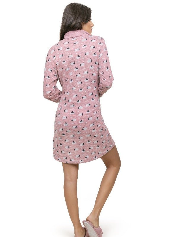 Winter Sheep Print Dress