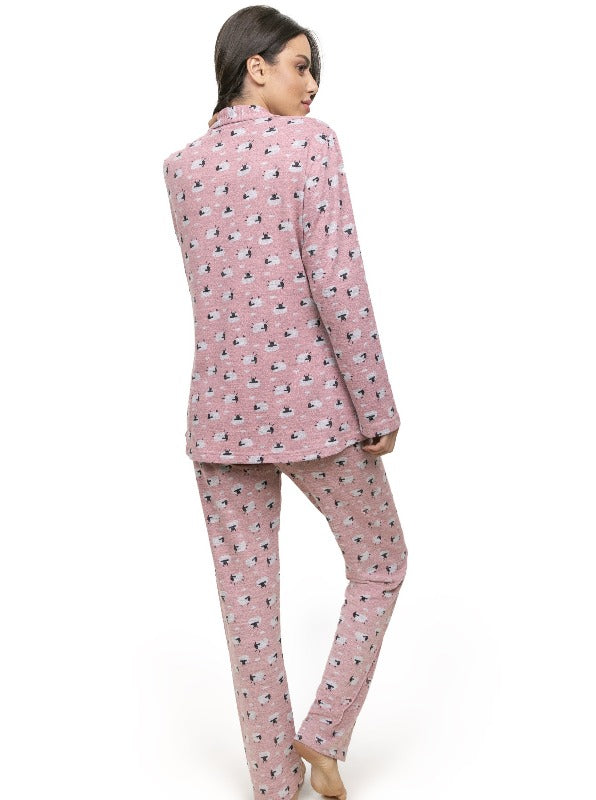 Warm Winter Sheep Print Pijamas Jacket