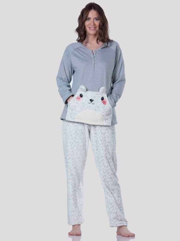 Two Pieces Pjs Set Woolsoft