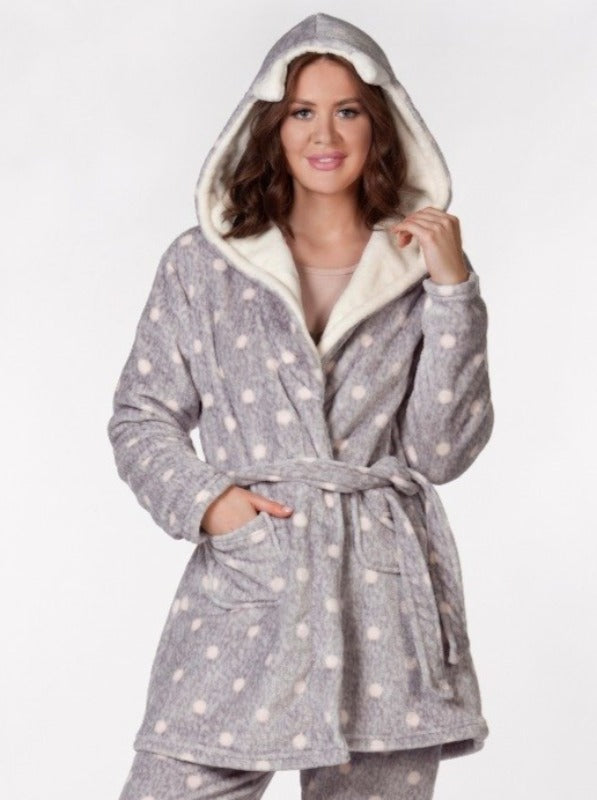 Dotted Robe Woolsoft