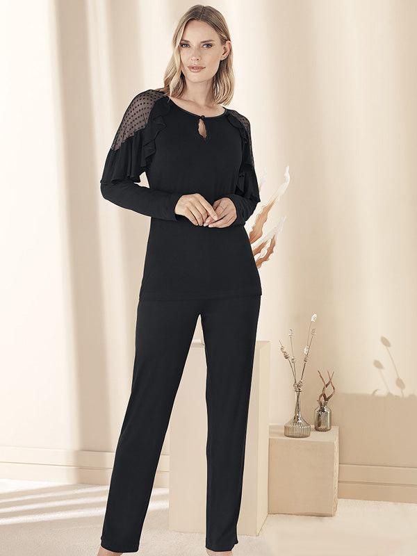 Elegant Long Sleeves Loungewear