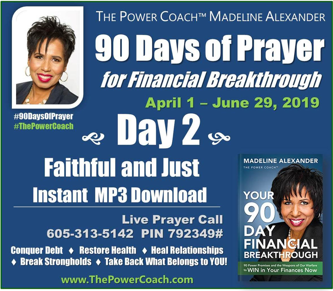 2019: Day 2 - Faithful and Just - 90 Days of Prayer