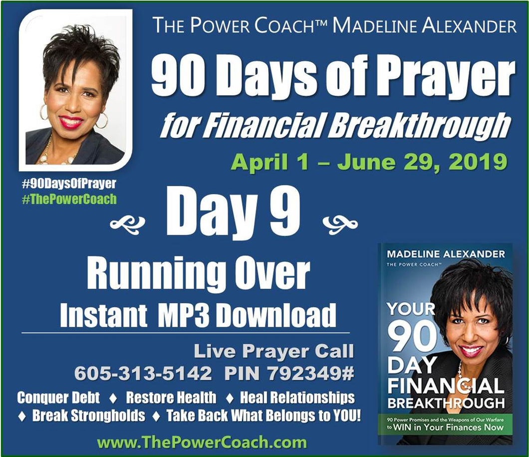 2019: Day 9 - Running Over - 90 Days of Prayer