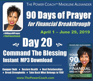 2019: Day 20 - Command The Blessing - 90 Days of Prayer