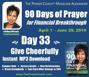 2019: Day 33 - Give Cheerfully - 90 Days of Prayer