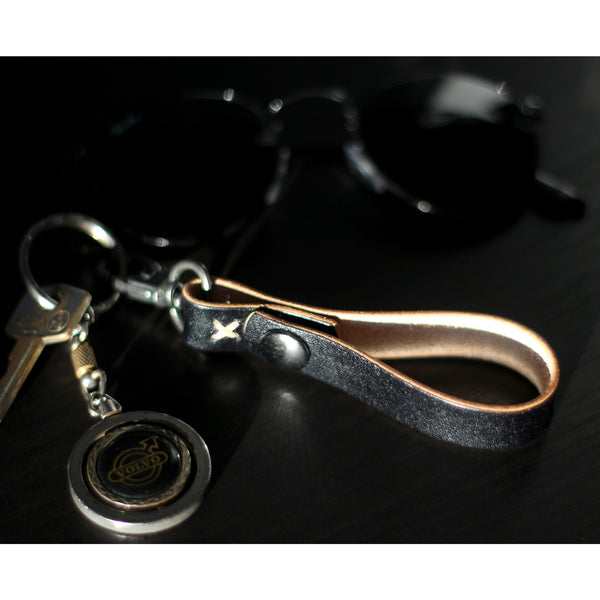KEY LANYARD in BLAQ