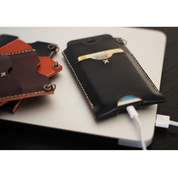 PHONE WALLET in BLAQ
