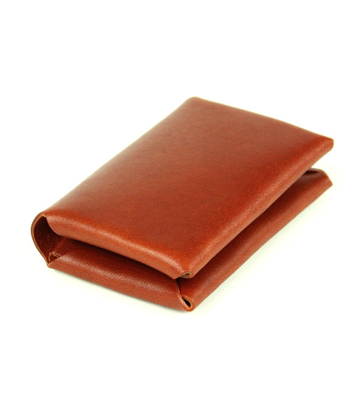 STITCHLESS LANDSCAPE WALLET in MAHOGANY