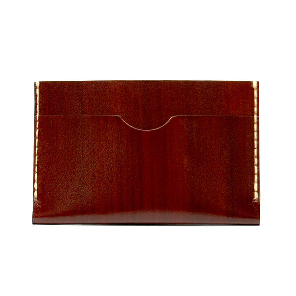 SLIM CARD WALLET in REDWOOD