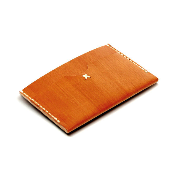 SLIM CARD WALLET in SADDLE