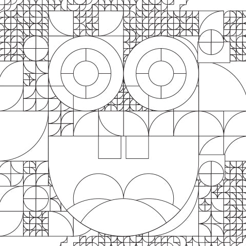 Some Squares Are Well-Rounded. Coloring Sheet