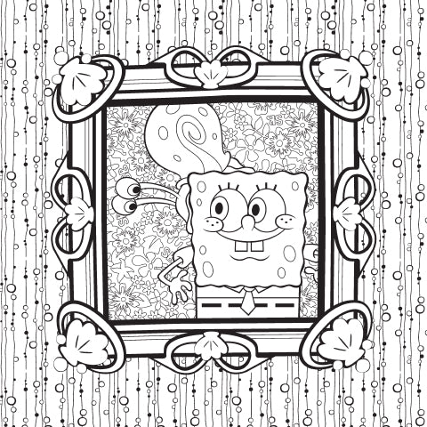 Happiness is a Warm Snail. Coloring Sheet