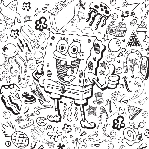 """""""My Brain and I are Glad to be Back!"""" - SpongeBob Coloring Sheet"""