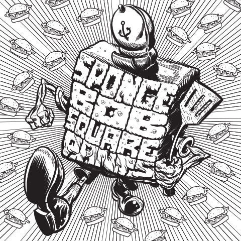 """""""Ready for Action!"""" - SpongeBob Coloring Sheet"""