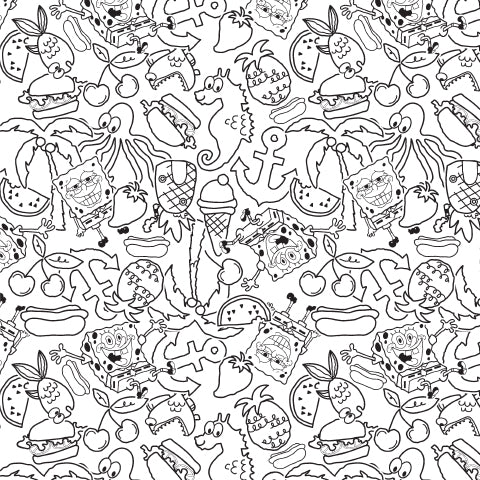 When You're Feeling Blue, Think Yellow! Coloring Sheet