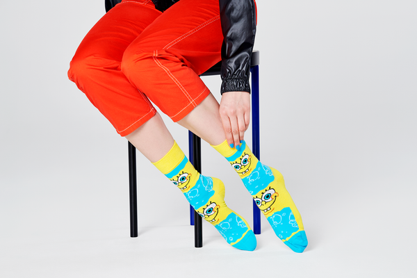 SpongeBob SquarePants Say Cheese Burger Socks - SpongeBob SquarePants Official Shop