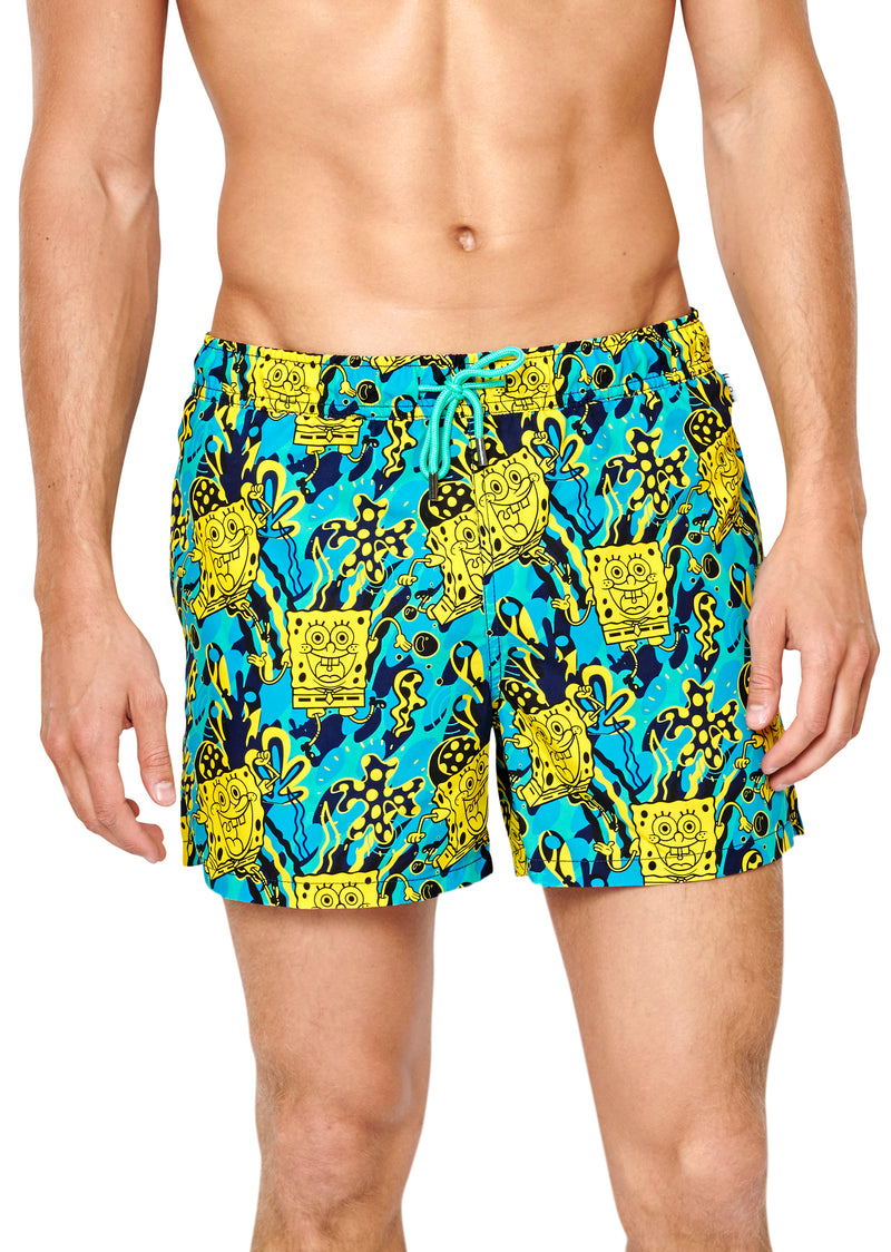 SpongeBob Let's Get Tropical Swim Shorts - SpongeBob SquarePants Official Shop