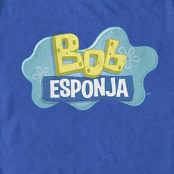 SpongeBob Bob Esponja Logo Adult T-Shirt - SpongeBob SquarePants Official Shop