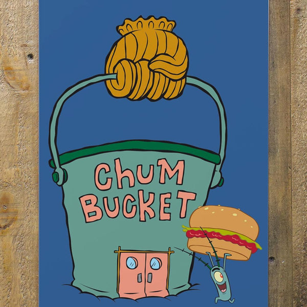 "Chum Bucket Metal Sign - 12"" x 18"" - SpongeBob SquarePants Official Shop"