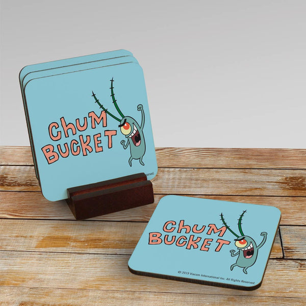 Chum Bucket Coasters - Set of 4 - SpongeBob SquarePants Official Shop