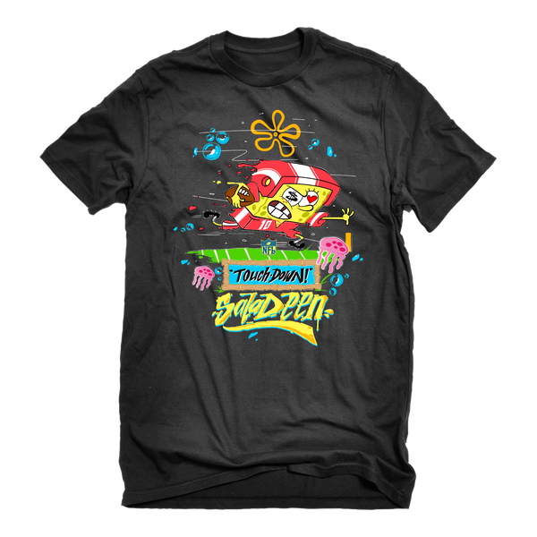SpongeBob Touchdown Adult Short Sleeve T-Shirt - SpongeBob SquarePants Official Shop
