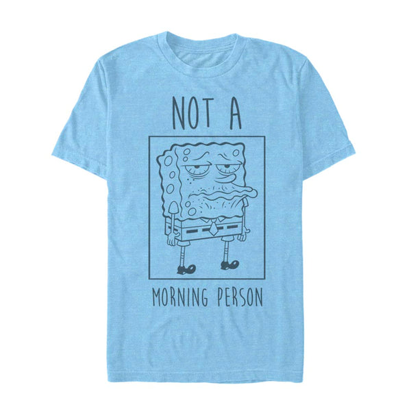 SpongeBob Not a Morning Person Short Sleeve T-Shirt - SpongeBob SquarePants Official Shop