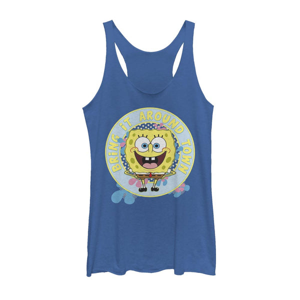 SpongeBob SquarePants Bring It Around Juniors Racerback Tank Top - SpongeBob SquarePants Official Shop