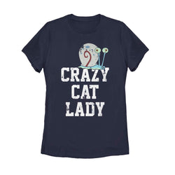 Gary Crazy Cat Lady Women's Short Sleeve T-Shirt - SpongeBob SquarePants Official Shop