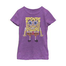SpongeBob Type Purple Girls Short Sleeve T-Shirt - SpongeBob SquarePants Official Shop