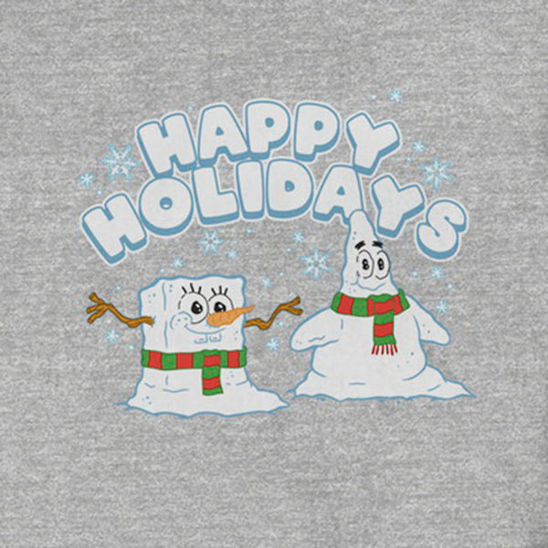 SpongeBob and Patrick Happy Holidays Crewneck Sweatshirt - SpongeBob SquarePants Official Shop