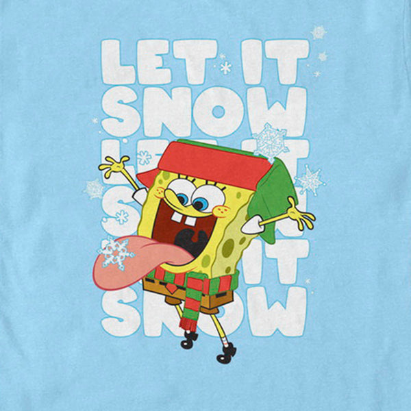 SpongeBob Let it Snow Short Sleeve T-Shirt - SpongeBob SquarePants Official Shop